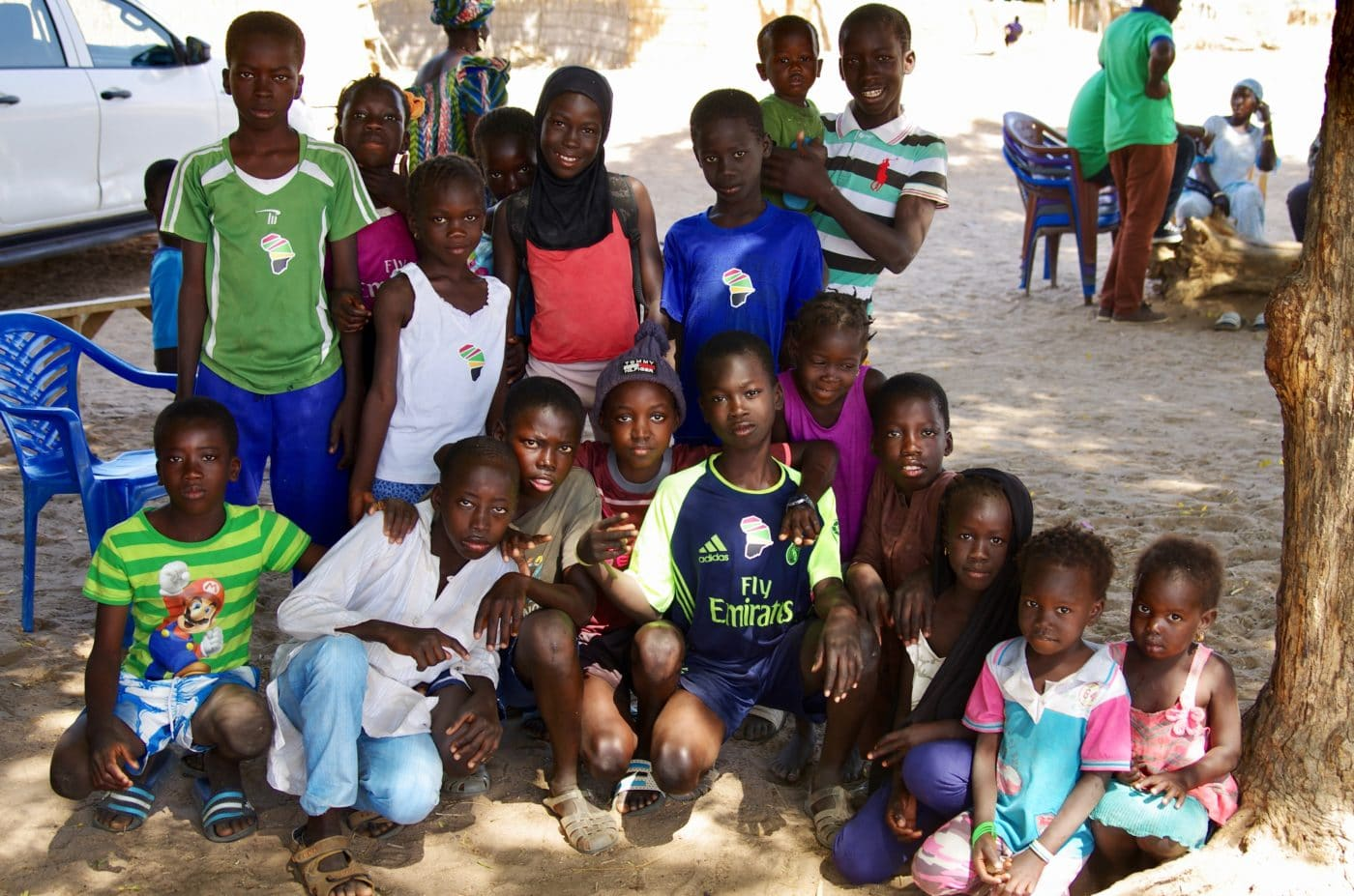 Group of youth in Senegal