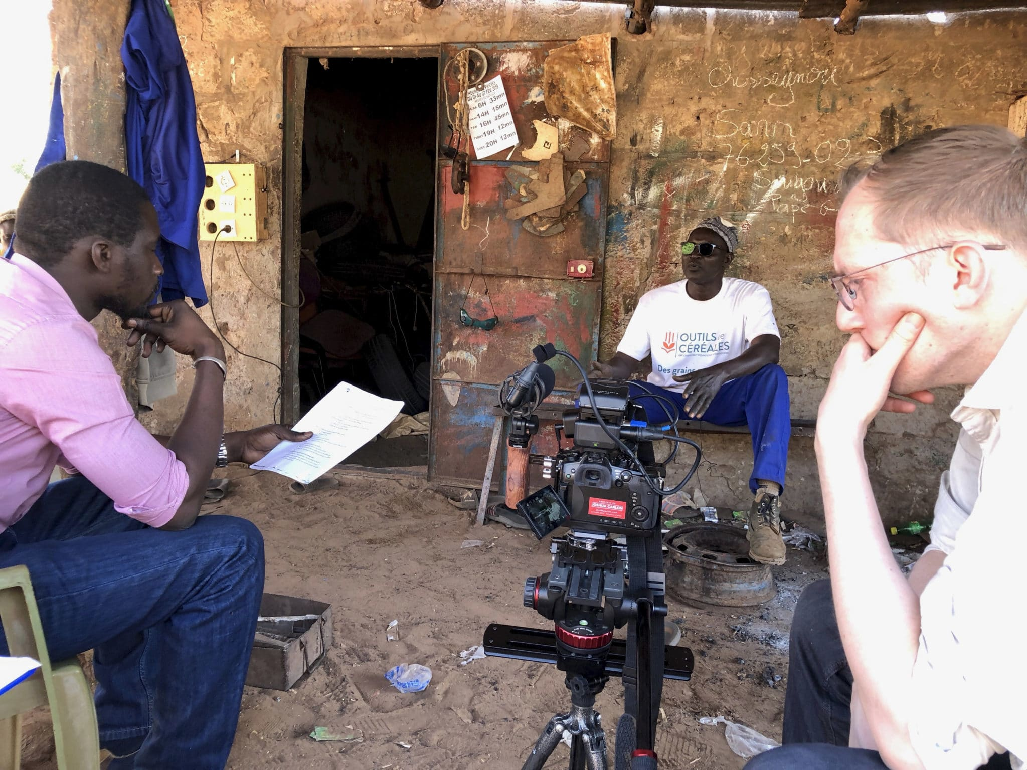 Behind-the-scenes of recent marketing video shoot on location in Senegal with local translator and Minneapolis-based videographer.